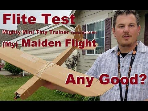 flite-test--mighty-mini-tiny-trainer-speed-build-kit--maiden-flight