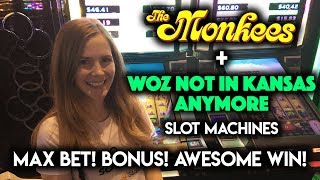 Bonus!!! So Many Progressive WINS on Wizard of OZ Not in Kansas Anymore Slot Machine!!!