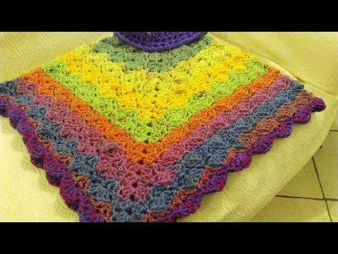 Crochet Poncho Any Size Adult Or Child Tutorial