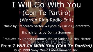"Donna Summer - I Will Go with You (Warren Rigg Radio Edit) LYRICS - SHM ""I Will Go with You"""
