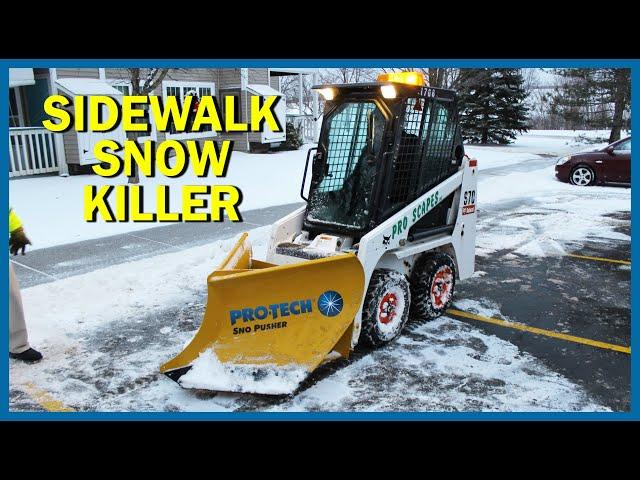 Sidewalk Snow Plow - Pro-Tech V Plow Sno Pusher