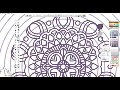 Drawing A Digital Mandala || IT'S EASIER THAN YOU THINK!