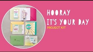 Hooray It's Your Day Project Kit by Stampin' Up!