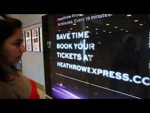 Heathrow Express interactive promo focuses on the