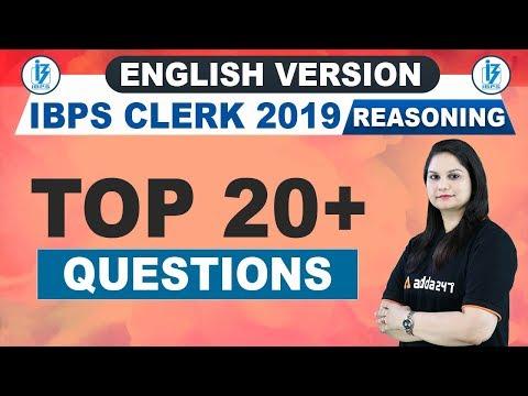 IBPS Clerk 2019 | Reasoning | Top 20+ Questions