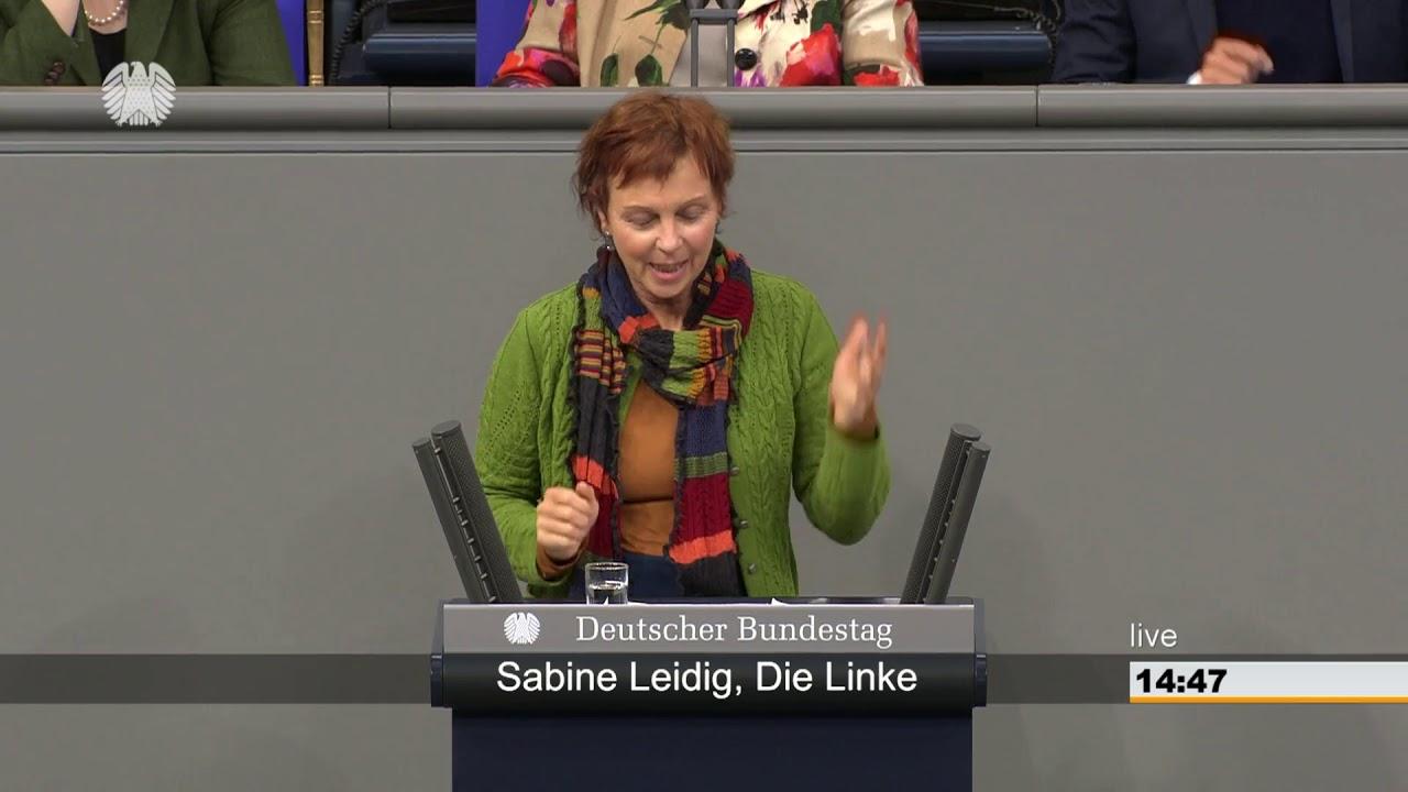Rede von Sabine Leidig am 12. April 2019 im Deutschen Bundestag zum Thema Die Bahn wieder ins ganze Land bringen – Bahnstrecken reaktivieren!