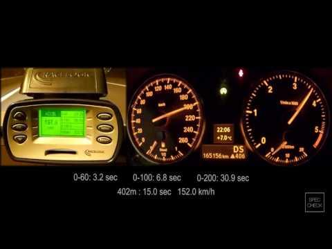 BMW 320d E90 remap acceleration 0-100km stage 2 - смотреть