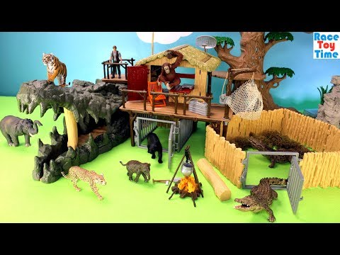 Schleich WildLife Crocodile Jungle Research Playset Plus Animal Toys