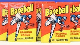 1975 Topps Baseball Card Wax Pack Box Break Opening Possible Nolan Ryan Pete Rose Reggie Jackson