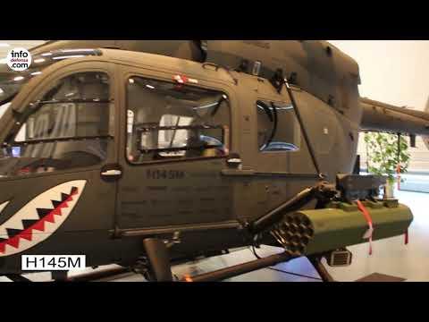 Helicópteros H160M y H145M en un evento de Airbus en Alemania