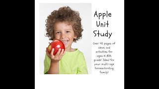 Just for you! Apple Unit Study