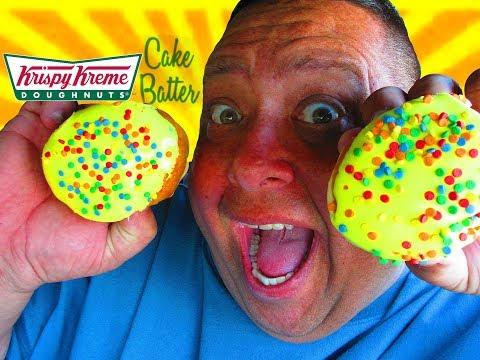 Krispy Kreme® CAKE BATTER DOUGHNUT Review!