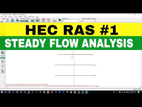 [HEC RAS #1] STEADY FLOW ANALYSIS   PART 1   FOR ...