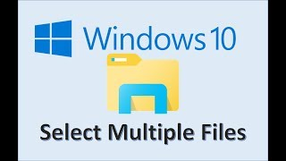 Windows 10 - How To Select Multiple Files On Microsoft PC Computer Or Laptop - Highlight In Items