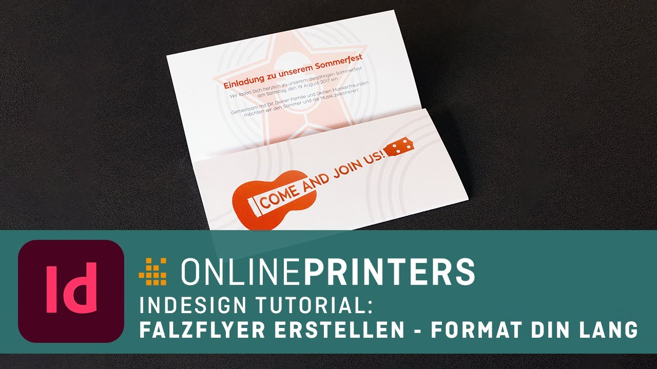 InDesign-Tutorial: Sechsseitiger Falzflyer in DIN lang