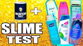 Shampoo Slime Test with head and shoulders, suave, pantene, dove, baby shampoo, garnier fructis