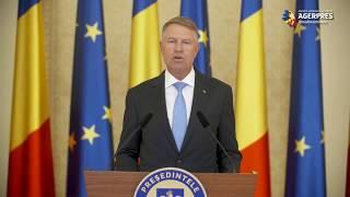 Iohannis: Am transmis Parlamentului informarea privind starea de urgenţă