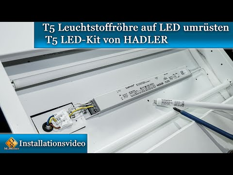 T5 Leuchtstoffröhre auf LED umrüsten - T5 LED-Kit von HADLER