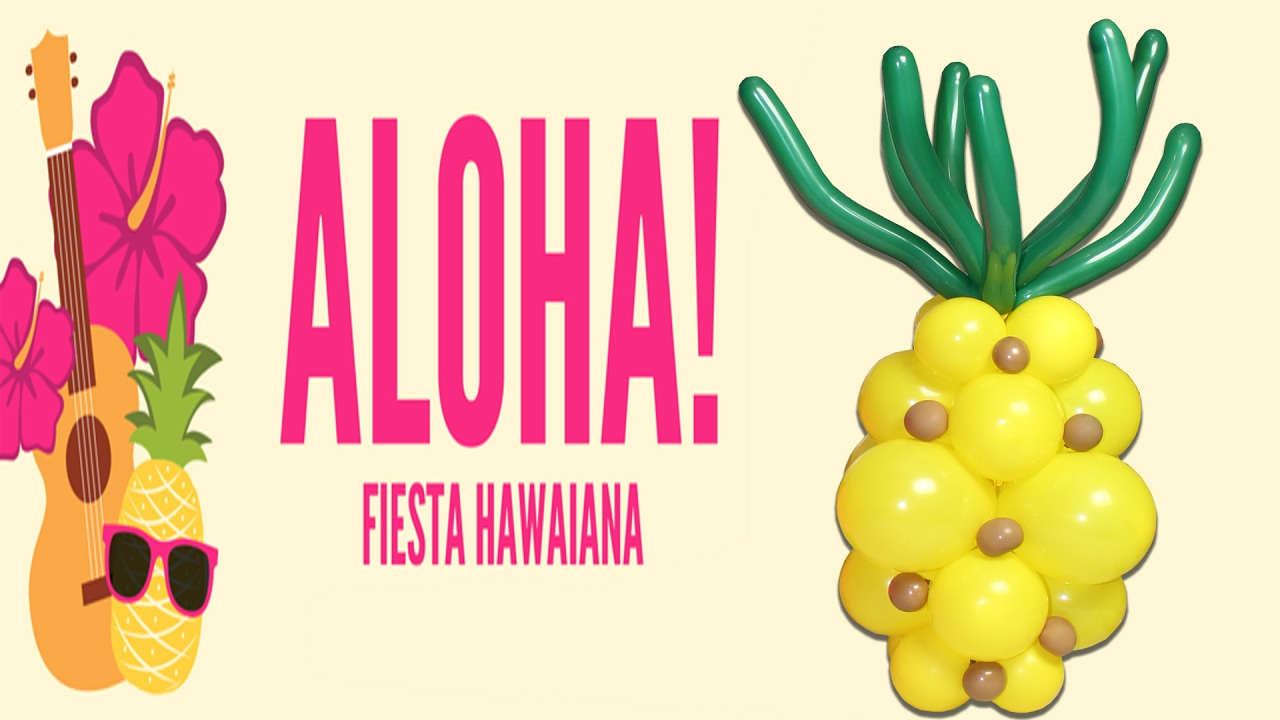 Pineapple Hawaiana Piña Tiky Party DIY