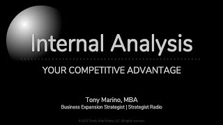 Internal Analysis: Your Competitive Advantage
