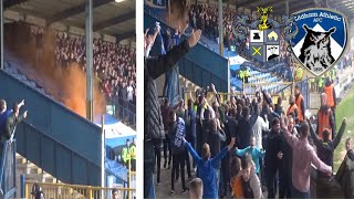 HOOLIGANS & PYROS THROWN INTO THE HOME END!! BURY FC VS OLDHAM ATHLETIC VLOG!