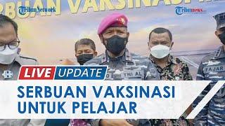 Danlantamal Kunjungi SMK di Belitung untuk Tinjau Kegiatan Vaksinasi, Disambut Tarian Adat