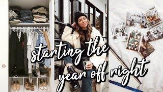 2019 Vision Board, Closet Purge + Healthy Eating | VLOG