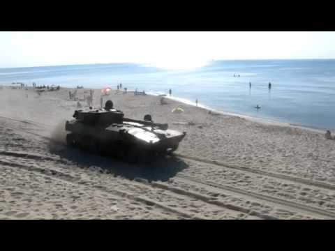 Tanks Racing Through The Beach Is Fun To Watch (If You're Not There)