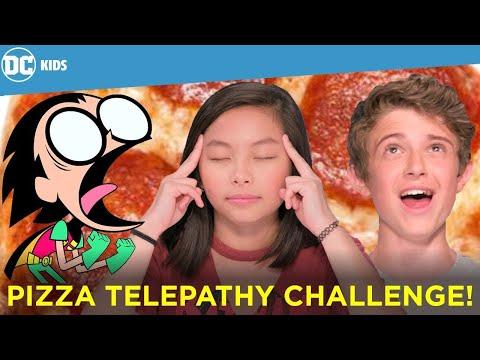 Teen Titans GO! Twin Telepathy Pizza Challenge!   Super Hero Challenges   DC Kids Show