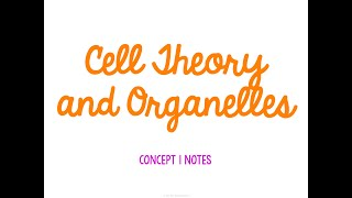 Unit 2 Cells Concept 1 Notes *UPDATED*
