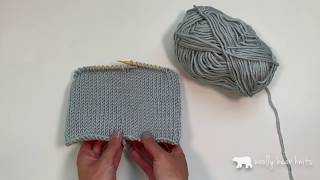How to Knit a Double Brim