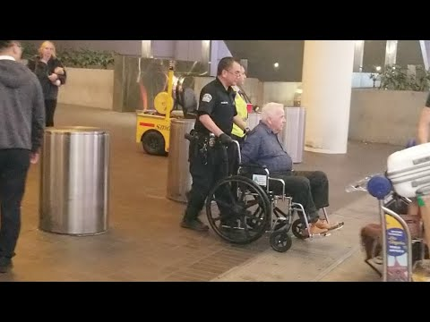 Man arrested by lax airport police for allegedly sexual battery on a man at lax