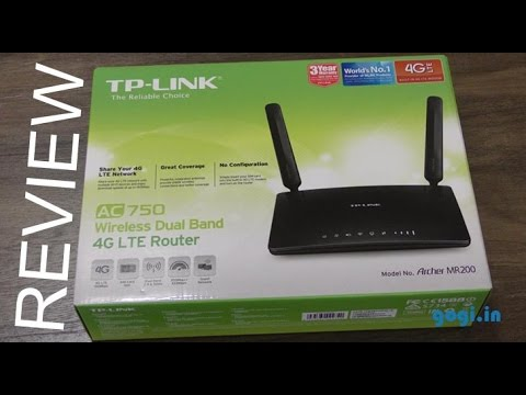 TP-LINK Archer MR200 4G LTE router unboxing and review
