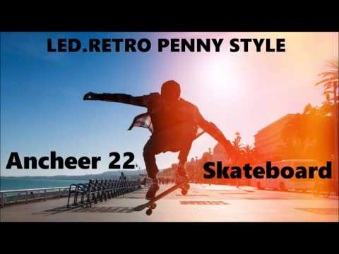 "Ancheer 22"" Skateboard LED RETRO STYLE"