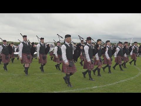 PSNI Pipe Band competes at the 2019 British Pipe Band Championships at Paisley