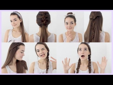 , title : '7 Quick + Easy Hairstyles! | Reese Regan'
