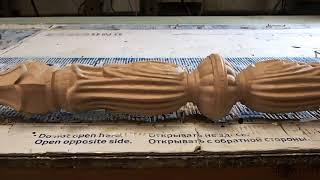 Видео - Резной столб из дерева st-Florence-A