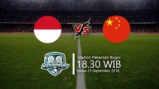 Live Streaming PSSI Anniversary U-19 Tournament 2018, Indonesia Vs China, Selasa 18.30 WIB