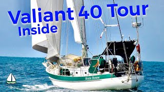 Bluewater Cruising Sailboat Tour - Valiant 40 #2 (Down Below)- Patrick Childress Sailing Tips #31