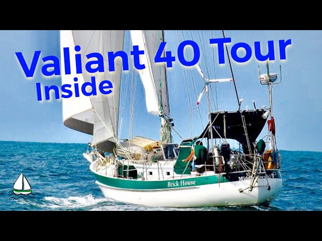 Bluewater Cruising Sailboat Tour #2: Valiant 40, (Down Below)- Patrick Childress Sailing video #31
