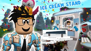building and opening a bloxburg ICE CREAM STAND... this was not smart oops