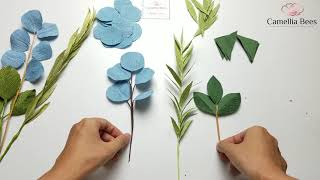 How To Make Paper Leaves From Crepe Paper - DIY Paper Craft