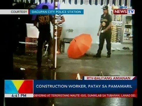 [GMA]  Construction worker, patay sa pamamaril