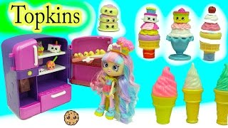 Season 7 Shopkins Topkins 12 Pack with Surprise Blind Bags + Disney  D-lectables Ice Cream Treats