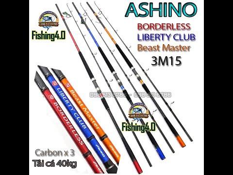 Cần Ashino BORDERLESS - Ashino  LIBERTY CLUB  - Ashino beast Master Dài 3m15 Siêu Bạo Lực - Tải Cá 40kg - Carbon x3 Lớp