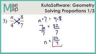 KutaSoftware: Geometry- Solving Proportions Part 1
