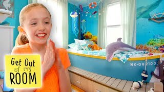Girl Gets Ocean-Themed Room Makeover! | Get Out Of My Room