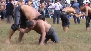 4384-12.10.2014-döşemealtı güreşi-MUSTAFA SECİM-BAYRAM ARSLANTAŞ maçı