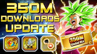 TONS OF GLOBAL NEWS & 350M DL CELEBRATION DETAILS!! | Dragon Ball Z Dokkan Battle