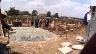 preview picture of video 'Work Starts for the Thika Kenya Apartments at Thika Smiles 10th Aug'